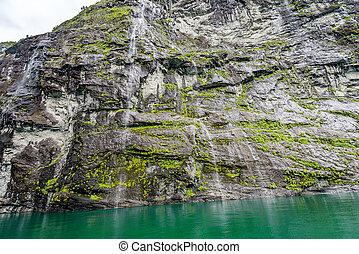 Waterfalls at Geiranger Fjord - Waterfalls at Geiranger...