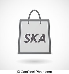 Isolated shopping bag with the text SKA - Illustration of an...