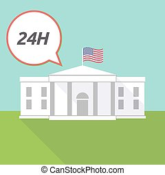 The White House with    the text 24H