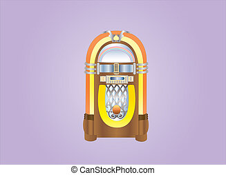 jukebox on light background