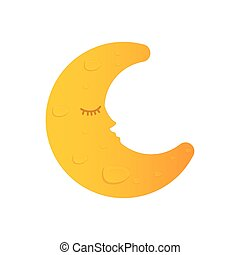 Sleeping moon cartoon
