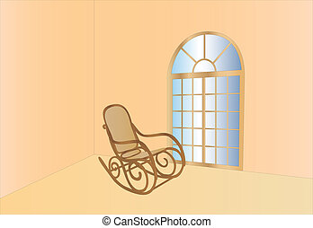 rocking chair and window view