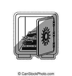 Strongbox safety money icon vector illustration graphic...