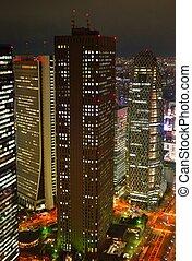 Tokyo cityscape at night in Shinjuku