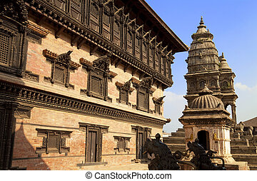 Bhaktapur Durbar Square, Nepal - Image of the ancient 9th...