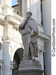 statue of architect Andrea Palladio in the downtown of...