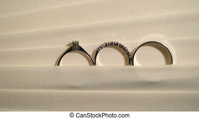 Wedding rings in lamp