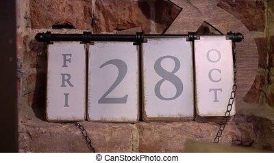 Calendar 28 friday october - Calendar on wall 28 friday...