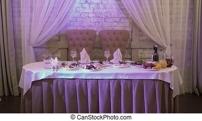 Restaurant ready for celebration