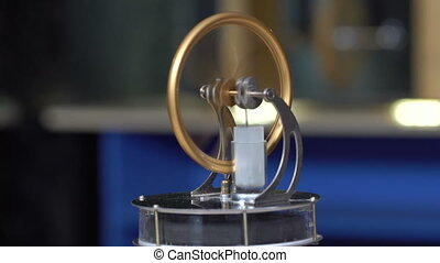 Working Stirling Engine - Working Stirling engine in the...