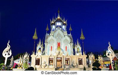 Wat Khoi - Magnificent church of Thai temple. Phra Buddha...