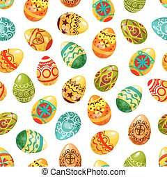 Easter egg seamless pattern background