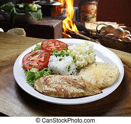 Chicken steak with fries - Chicken steak
