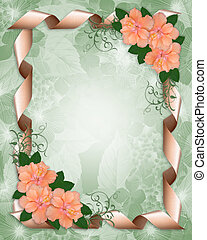 Wedding Invitation border hibiscus