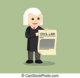 judge with civil law sheet