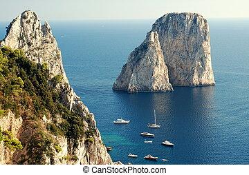 Faraglioni rocks at Capri island