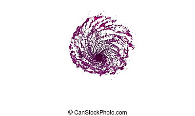 Purple Liquid tornado. Beautiful colored juice of whirl....