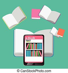 Concept e-Books world Library tablet education and learning