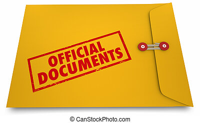 Official Documents Paperwork Envelope Information 3d Illustration