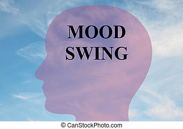 Mood Swing concept - Render illustration of 'MOOD SWING'...