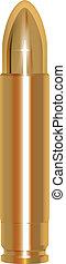 golden bullet - vector golden bullet isolated on white...