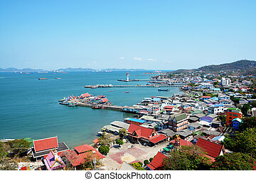 view point on Si Chang island, thailand
