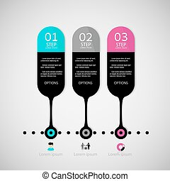 Infographic design template and marketing icons, Business concept options.