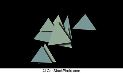 abstract triangles pattern moving