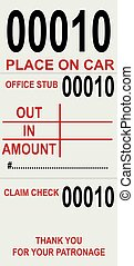 Ticket for parking permits