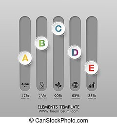Modern infographics business design options banner.Vector...