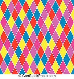 Harlequin parti-coloured seamless pattern 37 Color bright...