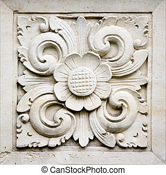 Bali stone carving - Traditional stone carving in sandstone,...