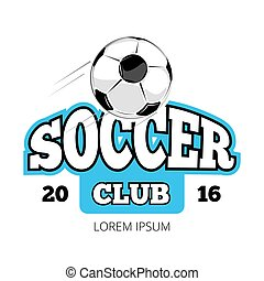 Soccer club vector logo template isolated white background....