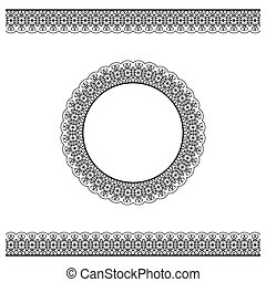 Black detailed border and circle frame - Black detailed...
