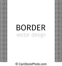 Black border with guilloches