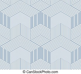 Seamless op art pattern. 3D illusion. - Seamless blue op art...