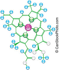 Chlorophyll formula I - Chlorophyll chemical formula I...