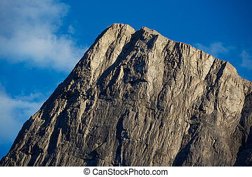 Mountain Peak in the evening light - Evening light on the...