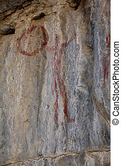 Ancient Pictograph - Ancient North American Native...