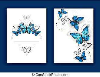 brochure design with butterflies morpho