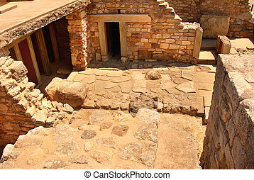 ancient civilization of Cnosos - palace ruins which are...