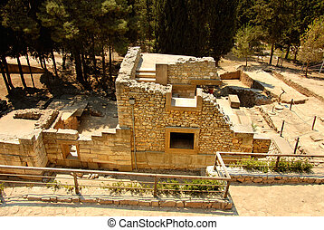 civilization of Knossos - palace ruins which are found...