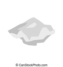 Paper crushed garbage isolated. sheet rubbish on white...