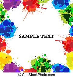 Seamles color splats - Seamless background with color ink...