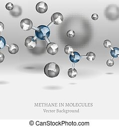 Methane Molecule Image - Scientific backdrop with Methane...