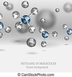 Methane Molecule Image - Scientific backdrop with Methane...