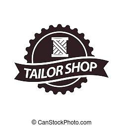 Tailor shop or dressmaker atelier salon vector icon template...