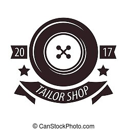Tailor shop or dressmaker atelier salon vector icon template...