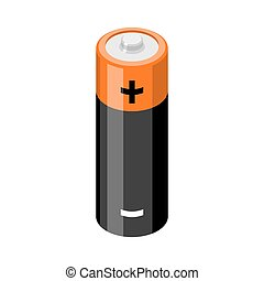 Battery isolated. accumulator on white background. Power...