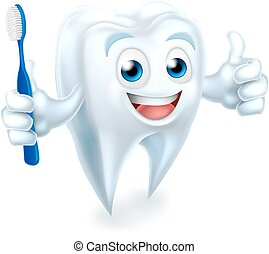 Tooth Mascot Character - A cartoon cute tooth dental...